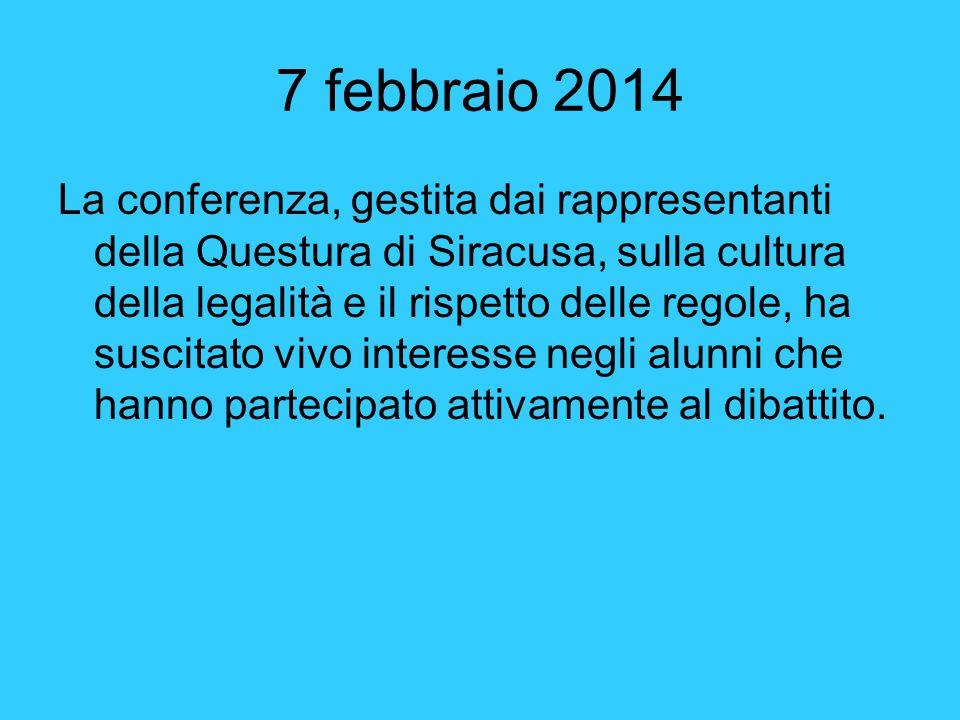 24 febbraio 2014 Incontro con un rappresentante dei Carabinieri per sensibilizzare i ragazzi all'uso del casco.