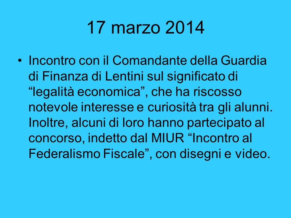 21 marzo 2014 Partecipazione alla manifestazione in ricordo delle vittime delle mafie, svoltasi a Lentini.