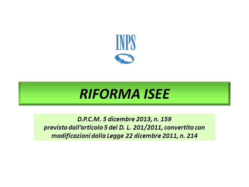 2 Cronoprogramma ► 8 FEBBRAIO 2014: ENTRATA IN VIGORE DEL D.P.C.M.