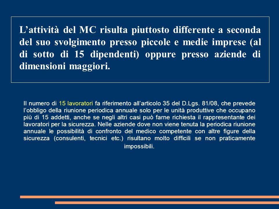 Il numero di 15 lavoratori fa riferimento all'articolo 35 del D.Lgs. 81/08, che prevede l'obbligo della riunione periodica annuale solo per le unità p
