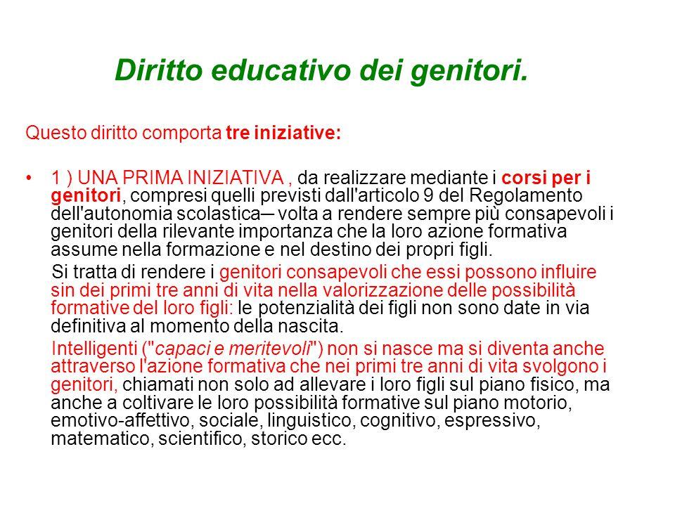 Diritto educativo dei genitori.