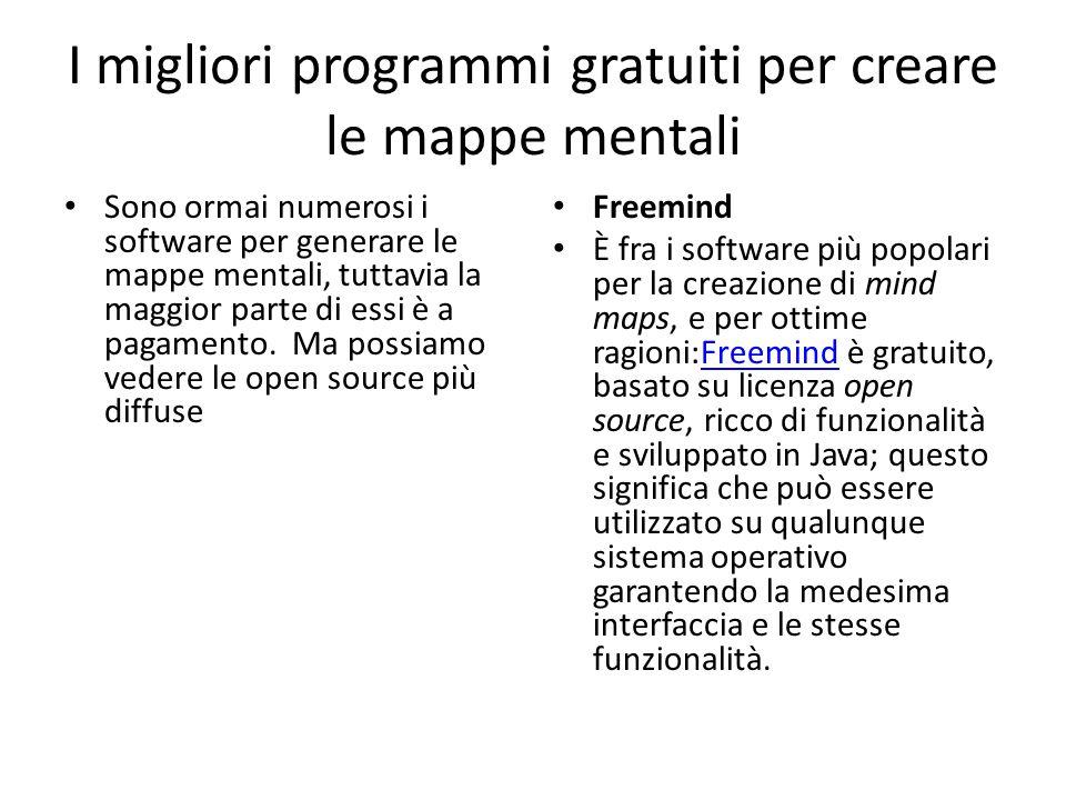 XMind Come Freemind anche XMind è un programma gratuito, basato su licenza open source e sviluppato in Java.