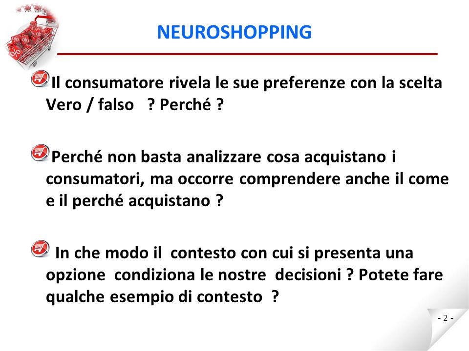 NEUROSHOPPING Esiste un rapporto tra comportamento di acquisto e ambiente di vendita .