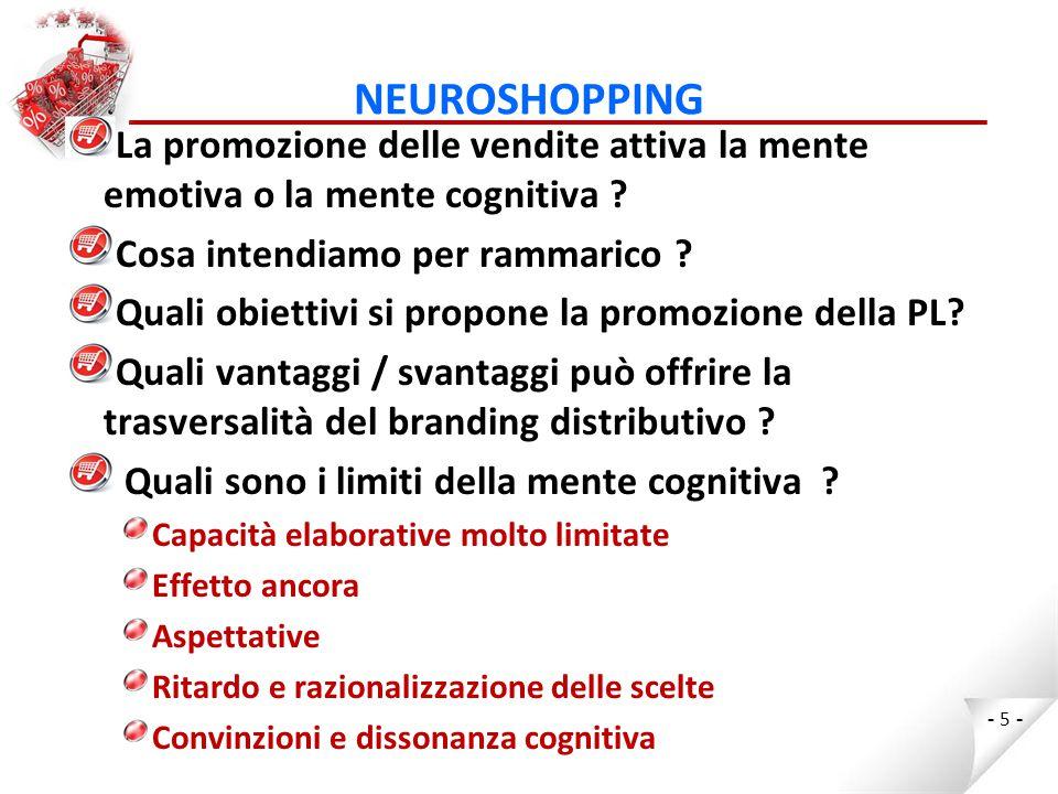 NEUROSHOPPING il posizionamento di prezzo della PL deve tener conto delle aspettative generate dal cervello consapevole .