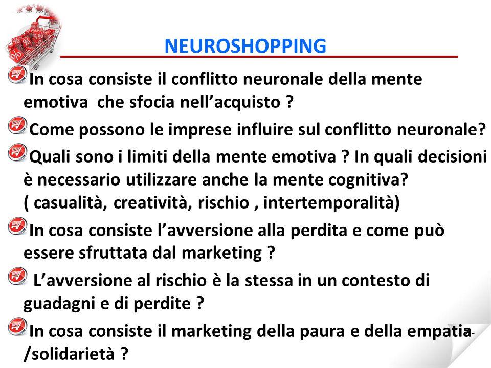 NEUROSHOPPING Quali sono i limiti della tradizionale segmentazione della clientela nel marketing .