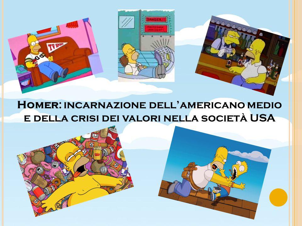 Homer: incarnazione dell'americano medio e della crisi dei valori nella società USA