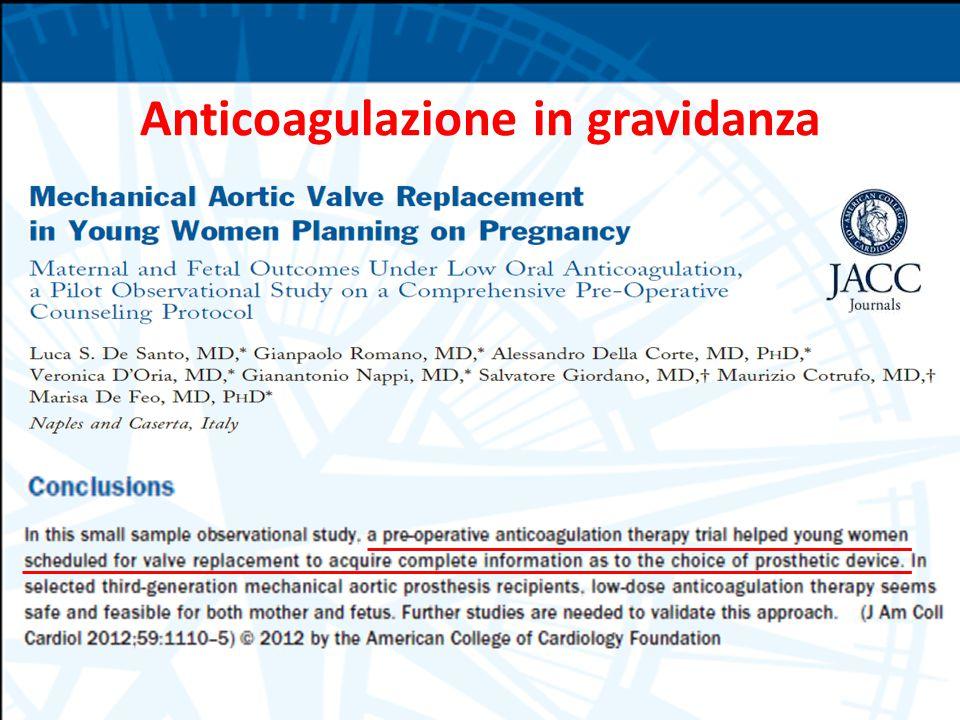 Anticoagulazione in gravidanza