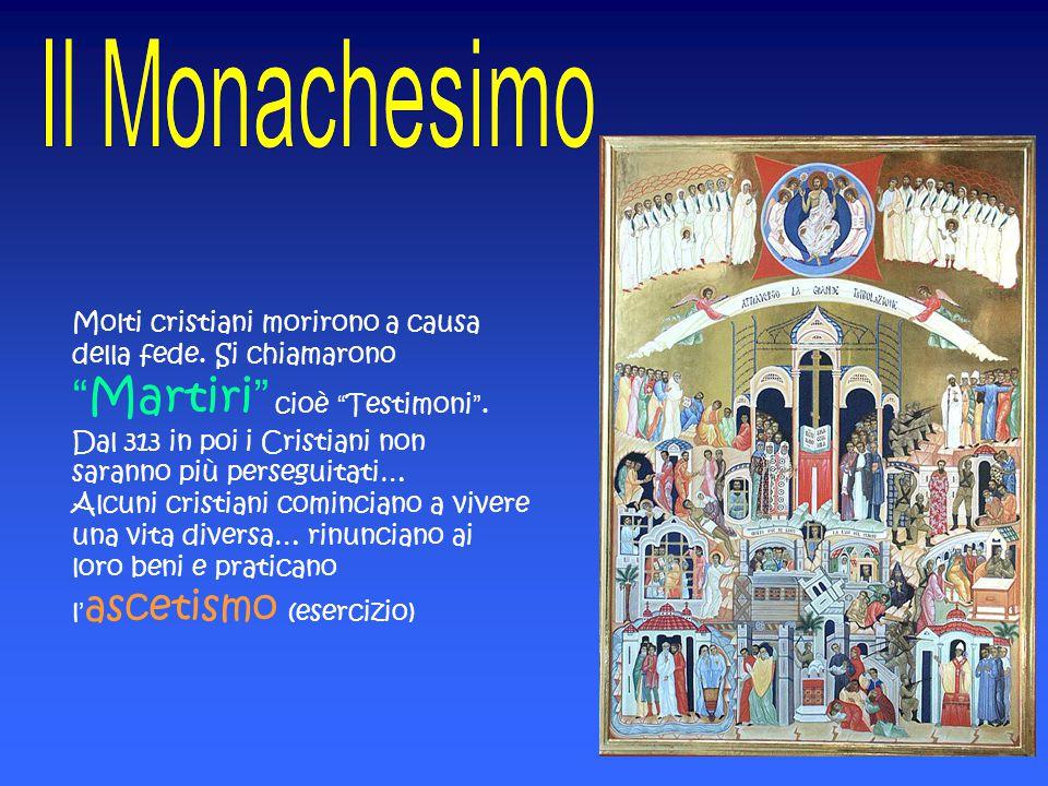 """Molti cristiani morirono a causa della fede. Si chiamarono """"Martiri"""" cioè """"Testimoni"""". Dal 313 in poi i Cristiani non saranno più perseguitati… Alcuni"""
