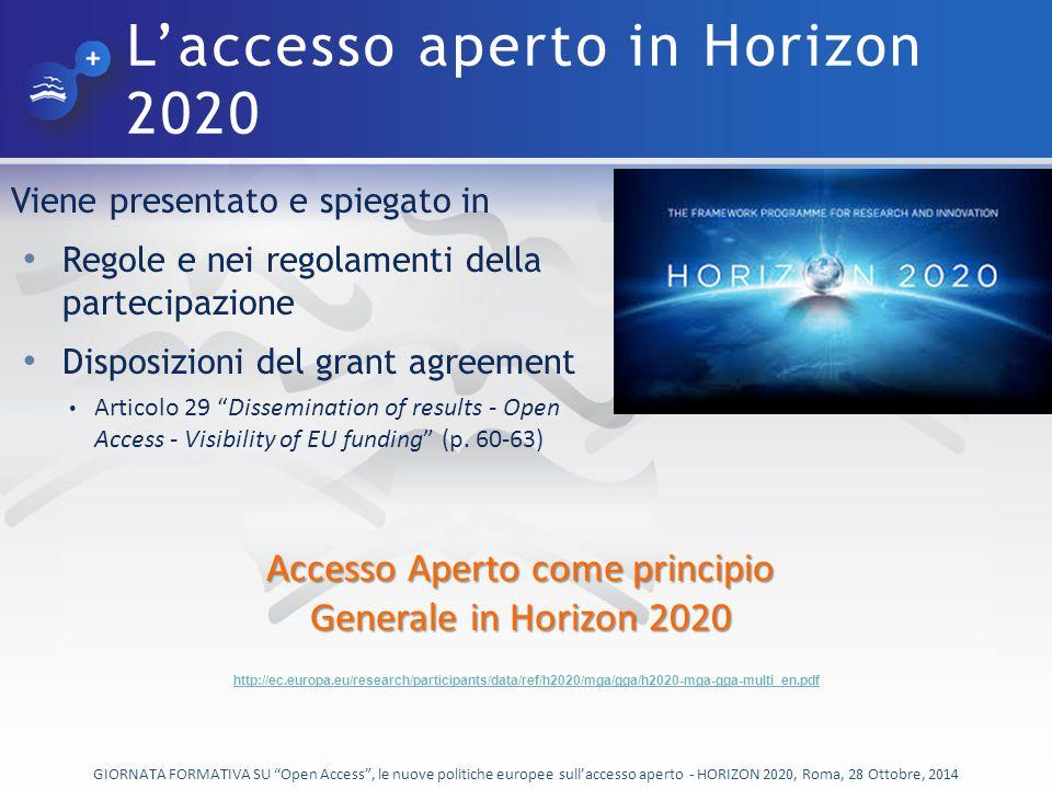 Classificazione GIORNATA FORMATIVA SU Open Access , le nuove politiche europee sull'accesso aperto - HORIZON 2020, Roma, 28 Ottobre, 2014