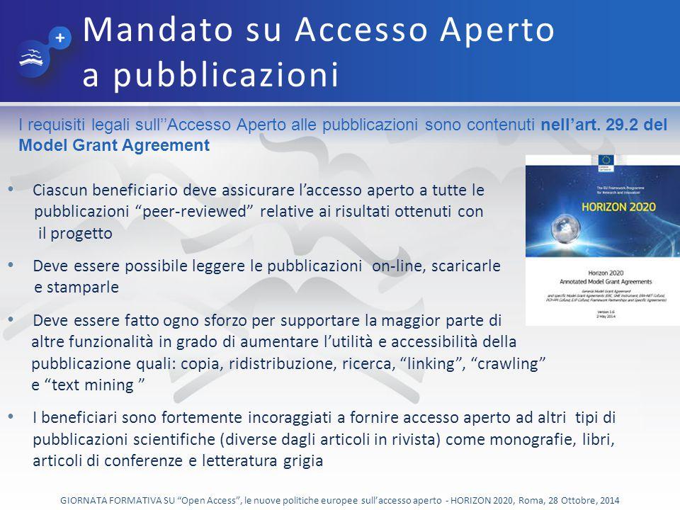 GIORNATA FORMATIVA SU Open Access , le nuove politiche europee sull'accesso aperto - HORIZON 2020, Roma, 28 Ottobre, 2014 Position Statement sull'accesso aperto ai risultati della ricerca in Italia (sottoscritto da CRUI, CNR, INFN, ENEA, ISS e successivamente da altri enti di ricerca, oggi circa 15) (Marzo 2013) National Points of Reference (NPR) - Open Access Policies Sulla base di quanto richiesto dalla Raccomandazione CE del 17.7.2012 n.