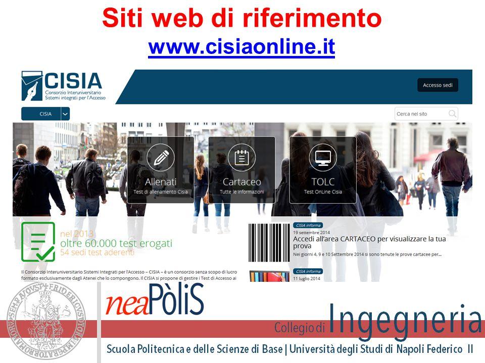 Siti web di riferimento www.cisiaonline.it