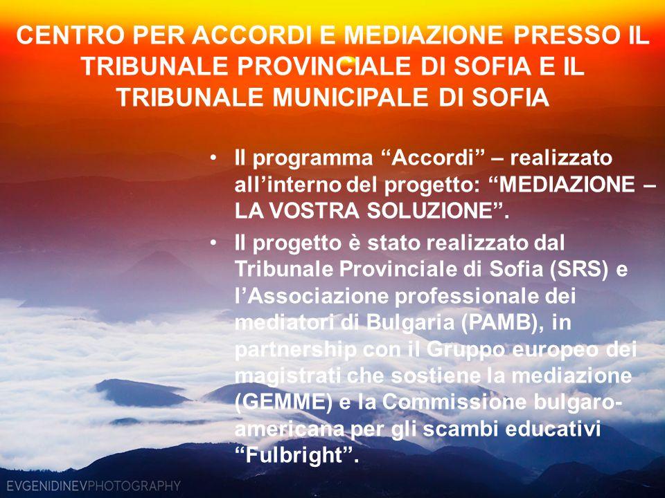 """Il programma """"Accordi"""" – realizzato all'interno del progetto: """"MEDIAZIONE – LA VOSTRA SOLUZIONE"""". Il progetto è stato realizzato dal Tribunale Provinc"""