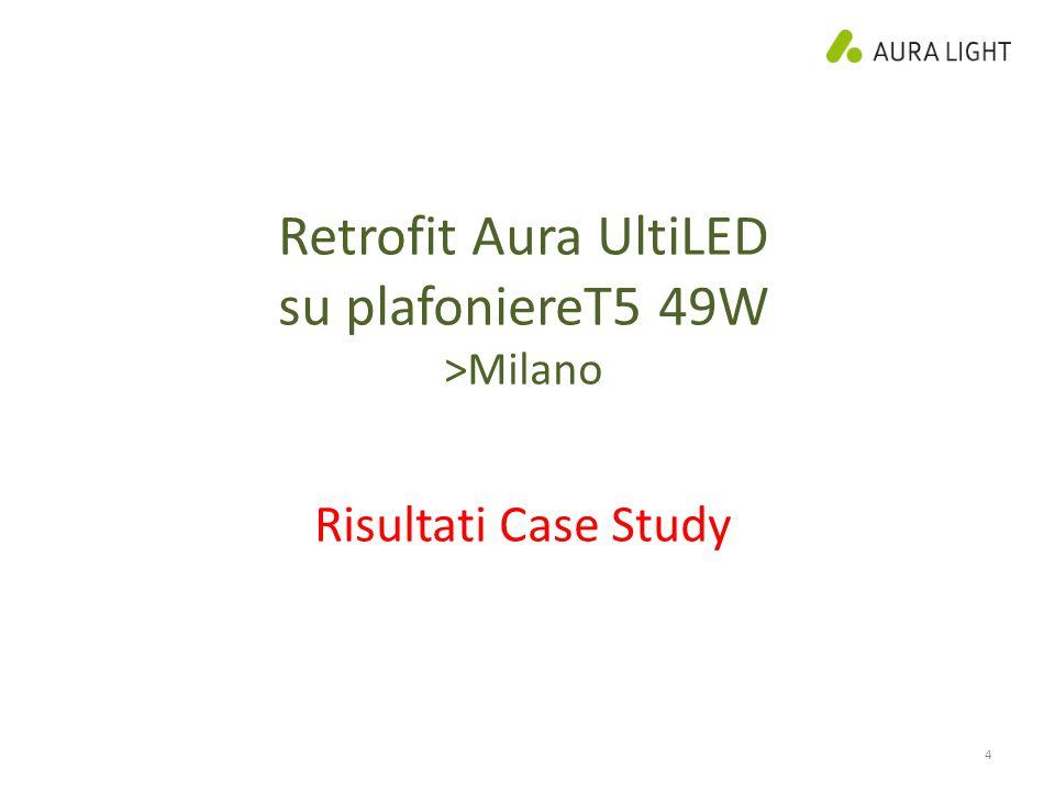 4 Retrofit Aura UltiLED su plafoniereT5 49W >Milano Risultati Case Study