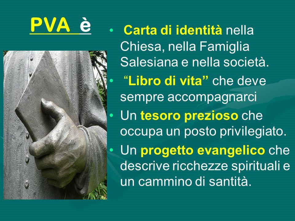 """Carta di identità nella Chiesa, nella Famiglia Salesiana e nella società. """"Libro di vita"""" che deve sempre accompagnarci Un tesoro prezioso che occupa"""