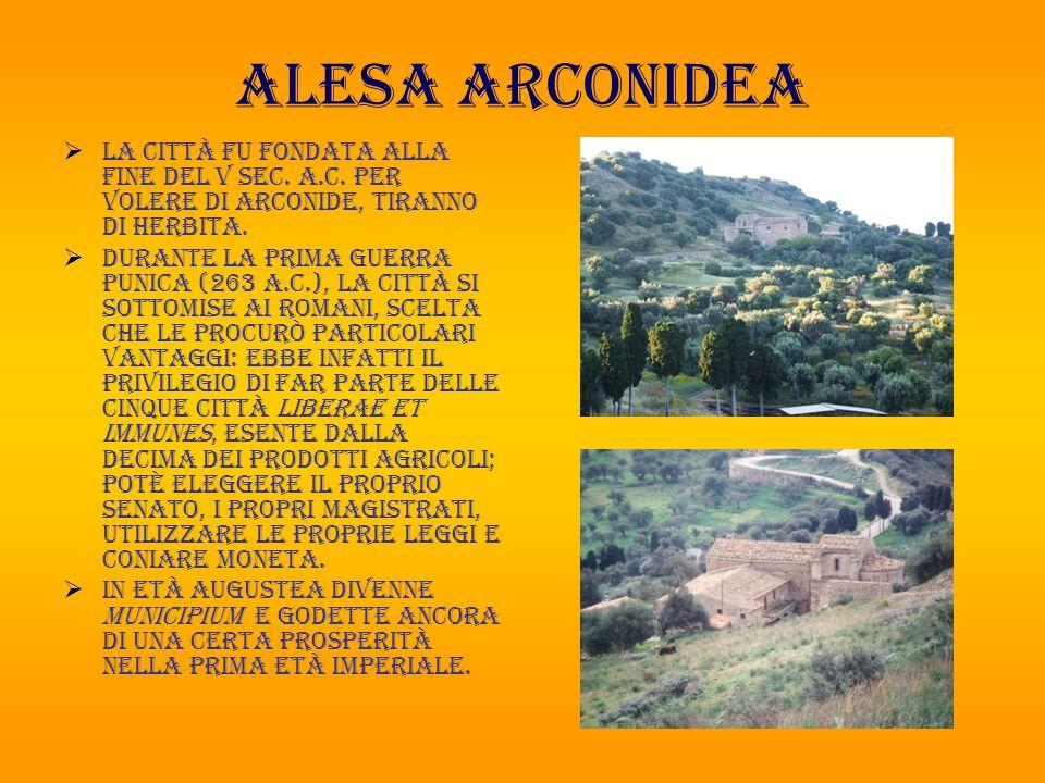 Alesa arconidea  La città fu fondata alla fine del V sec.