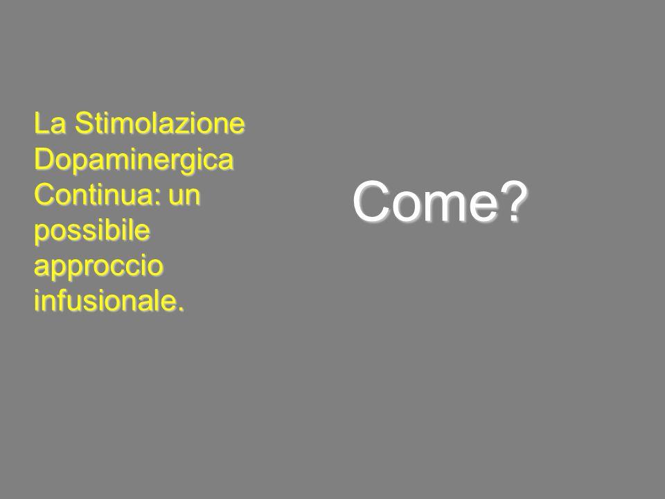 Come? La Stimolazione Dopaminergica Continua: un possibile approccio infusionale.