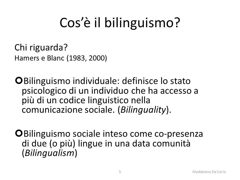 Cos'è il bilinguismo. Chi riguarda.