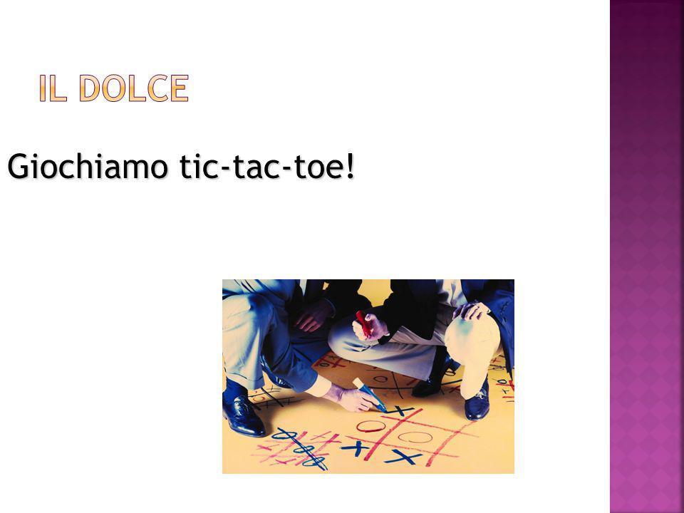 Giochiamo tic-tac-toe!