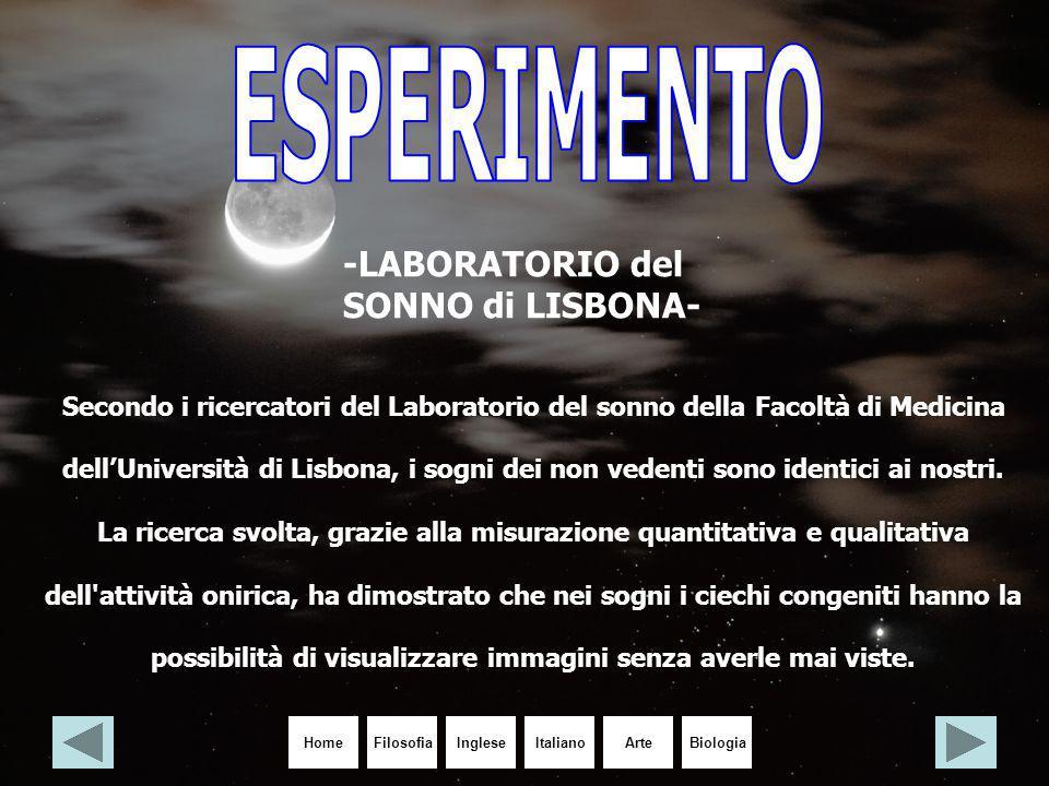 HomeIngleseItalianoArteBiologiaFilosofia Secondo i ricercatori del Laboratorio del sonno della Facoltà di Medicina dell'Università di Lisbona, i sogni