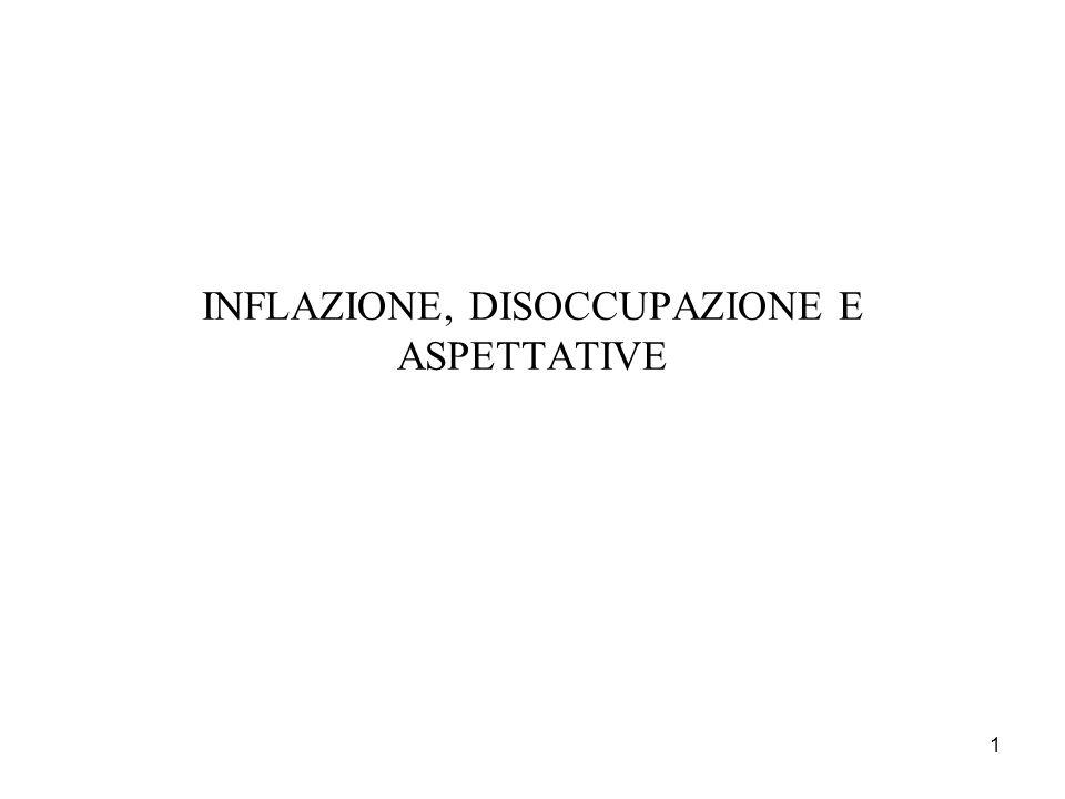1 INFLAZIONE, DISOCCUPAZIONE E ASPETTATIVE