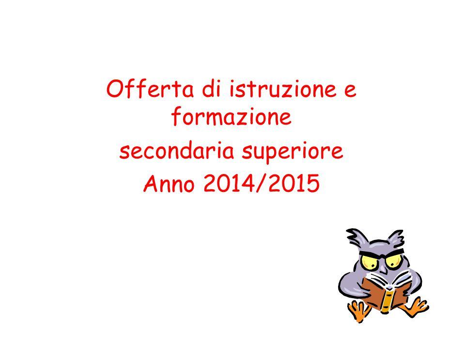 Offerta di istruzione e formazione secondaria superiore Anno 2014/2015