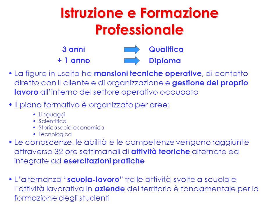 La figura in uscita ha mansioni tecniche operative, di contatto diretto con il cliente e di organizzazione e gestione del proprio lavoro all'interno d