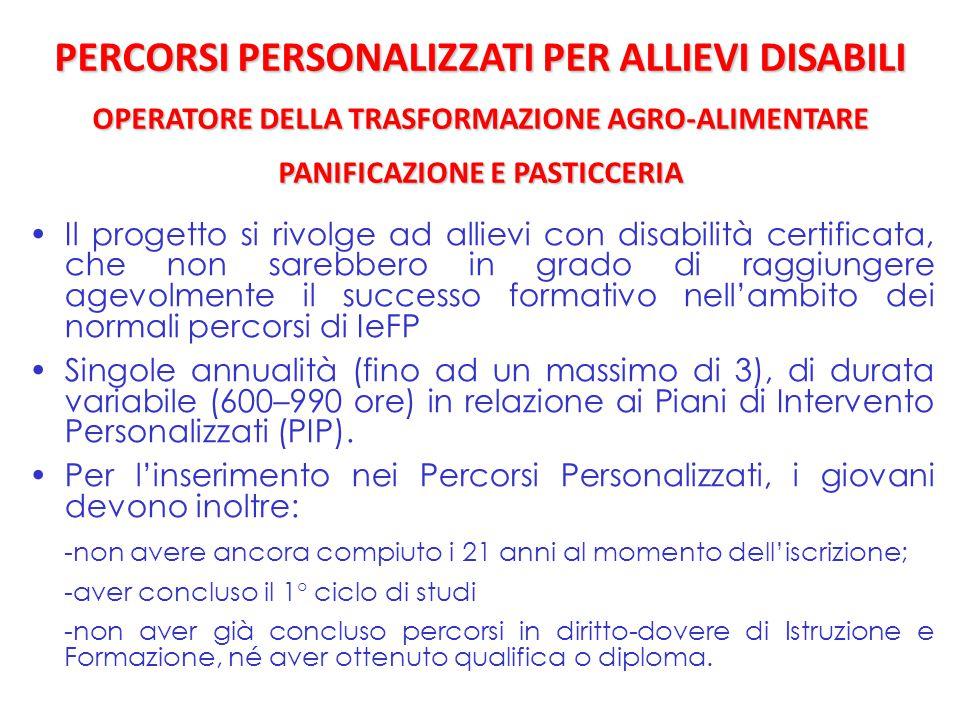 Il progetto si rivolge ad allievi con disabilità certificata, che non sarebbero in grado di raggiungere agevolmente il successo formativo nell'ambito