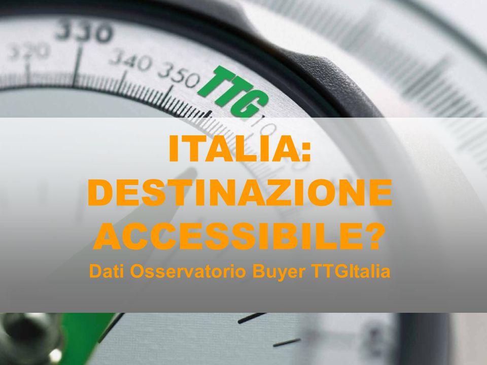 Cos'è l'Osservatorio Buyer TTG Italia Monitora annualmente la domanda estera attraverso la profilazione dei circa 600 buyer stranieri che partecipano a TTGIncontri/TTI, e attraverso la somministrazione di interviste mirate.