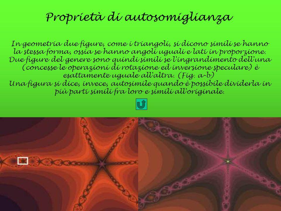Proprietà di autosomiglianza In geometria due figure, come i triangoli, si dicono simili se hanno la stessa forma, ossia se hanno angoli uguali e lati