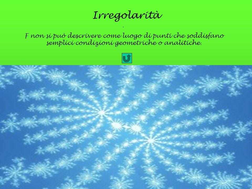 Irregolarità. F non si può descrivere come luogo di punti che soddisfano semplici condizioni geometriche o analitiche.