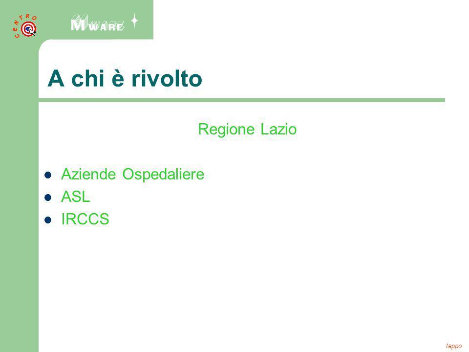 A chi è rivolto Regione Lazio Aziende Ospedaliere ASL IRCCS tappo