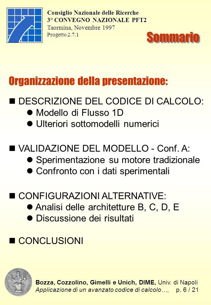 Bozza, Cozzolino, Gimelli e Unich, DIME, Univ. di Napoli Applicazione di un avanzato codice di calcolo…,p. 6 / 21 Consiglio Nazionale delle Ricerche 3