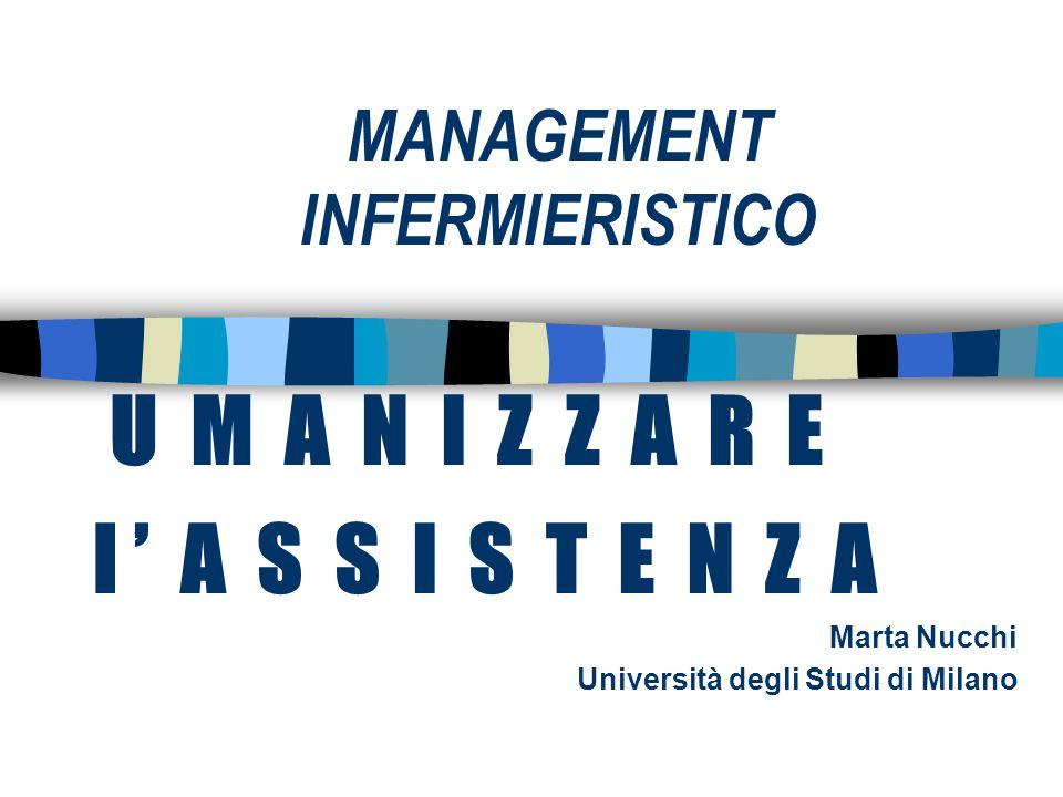 MANAGEMENT INFERMIERISTICO U M A N I Z Z A R E l ' A S S I S T E N Z A Marta Nucchi Università degli Studi di Milano