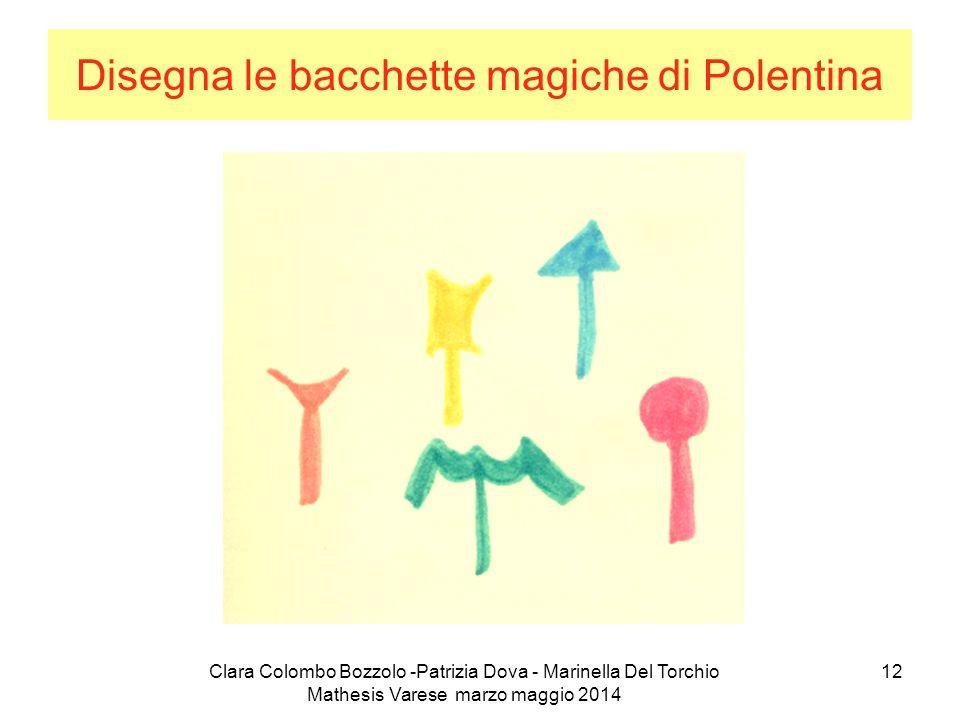 Clara Colombo Bozzolo -Patrizia Dova - Marinella Del Torchio Mathesis Varese marzo maggio 2014 12 Disegna le bacchette magiche di Polentina