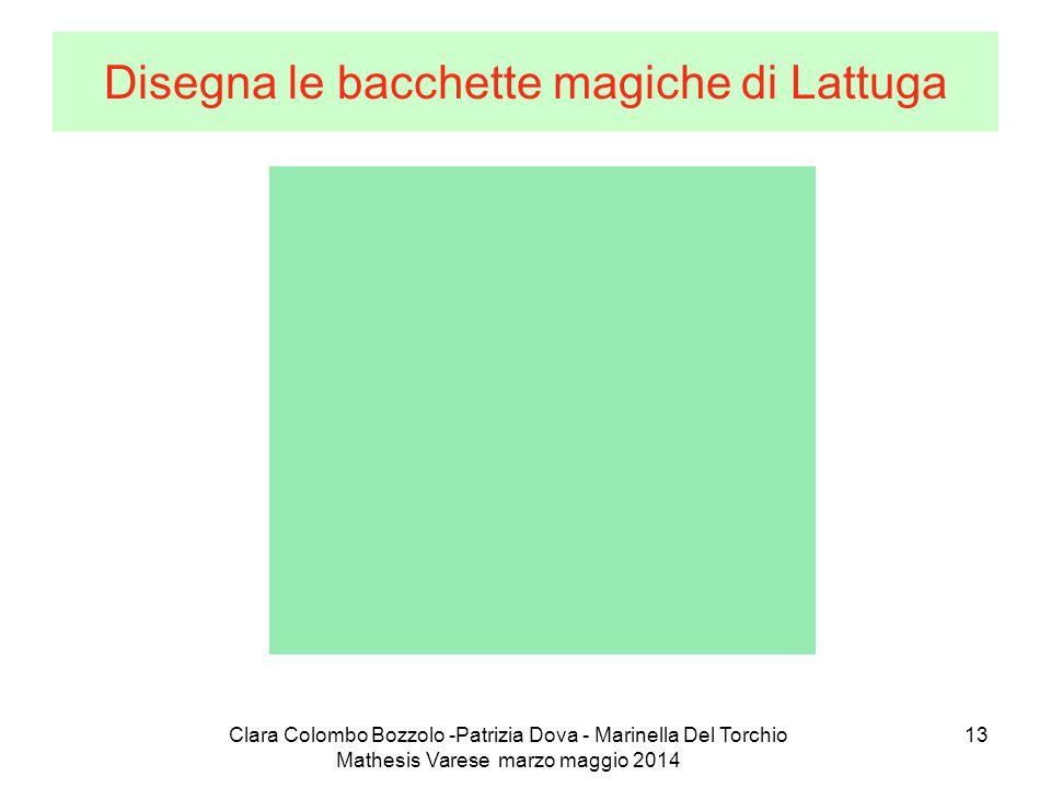 Clara Colombo Bozzolo -Patrizia Dova - Marinella Del Torchio Mathesis Varese marzo maggio 2014 13 Disegna le bacchette magiche di Lattuga