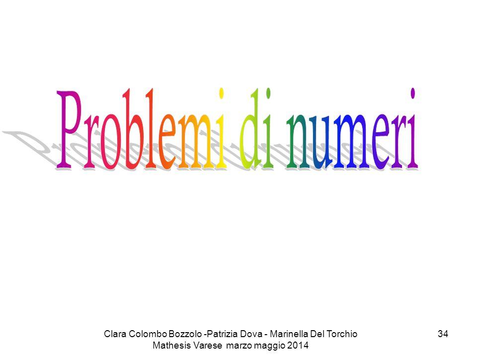 Clara Colombo Bozzolo -Patrizia Dova - Marinella Del Torchio Mathesis Varese marzo maggio 2014 34