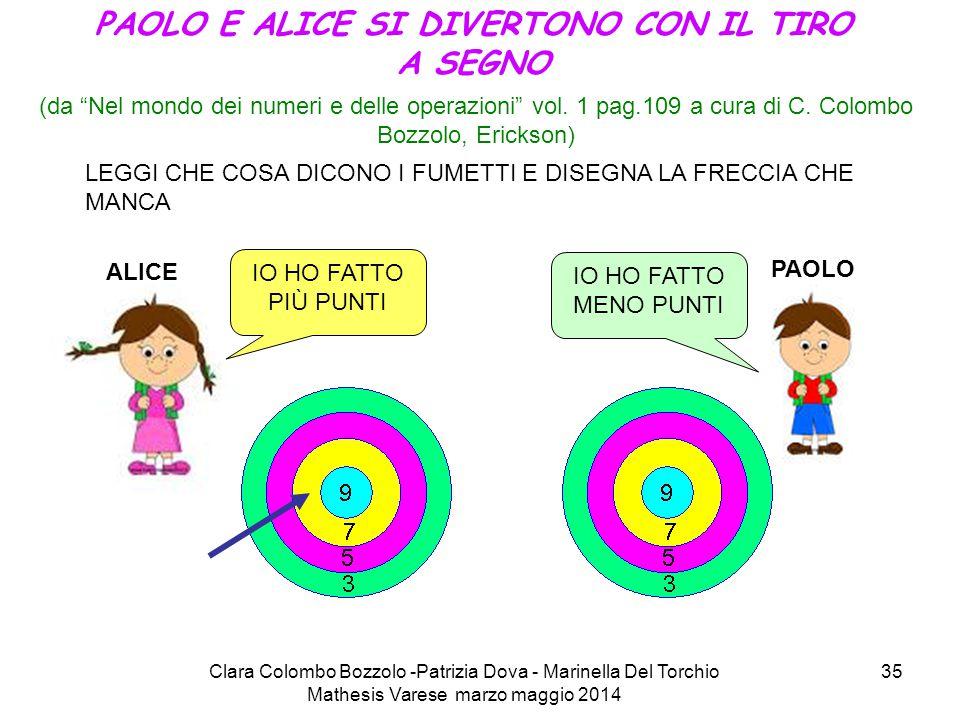 """Clara Colombo Bozzolo -Patrizia Dova - Marinella Del Torchio Mathesis Varese marzo maggio 2014 35 (da """"Nel mondo dei numeri e delle operazioni"""" vol. 1"""