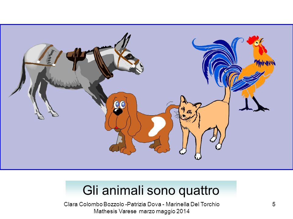 Clara Colombo Bozzolo -Patrizia Dova - Marinella Del Torchio Mathesis Varese marzo maggio 2014 5 Gli animali sono quattro