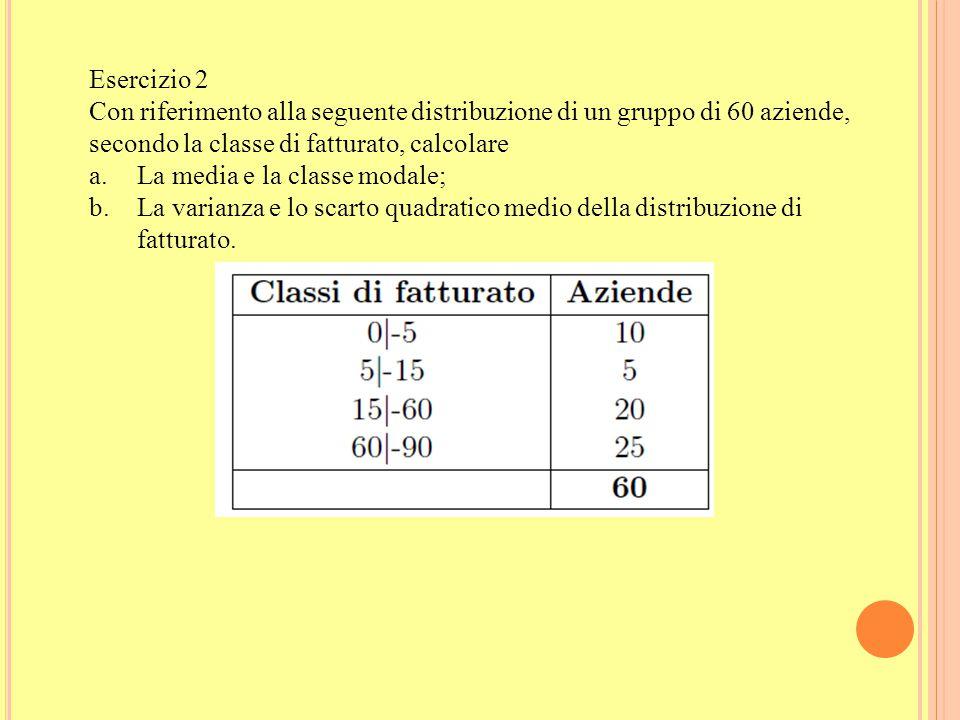 Esempio 1 Data la seguente distribuzione unitaria del carattere X: X: 4 2 4 2 6 4 0 4 0 2 4 4 a. Calcolare la media aritmetica utilizzando la distribu