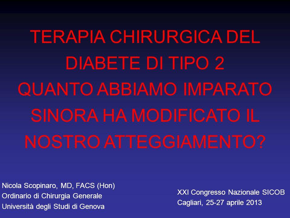 STUDIO PROSPETTICO SUGLI EFFETTI DI BPD E GBP (Università di Genova) remissione o controllo nel 67% dei casi a 1 anno, 73% a 4 anni range di BMI 30-35 kg/m 2