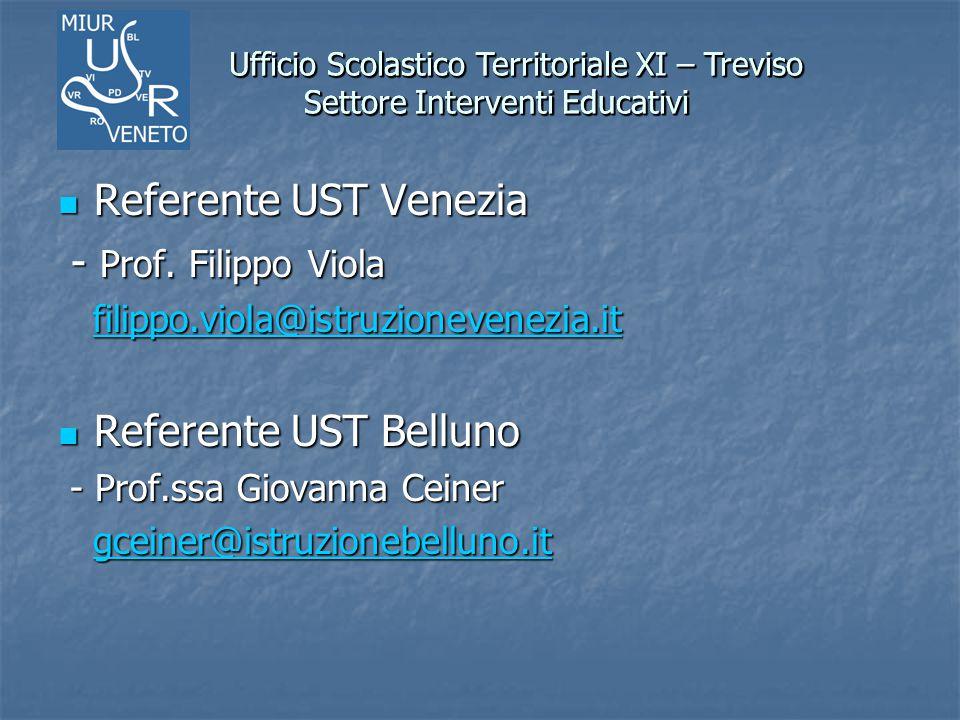 Ufficio Scolastico Territoriale XI – Treviso Settore Interventi Educativi Ufficio Scolastico Territoriale XI – Treviso Settore Interventi Educativi Re