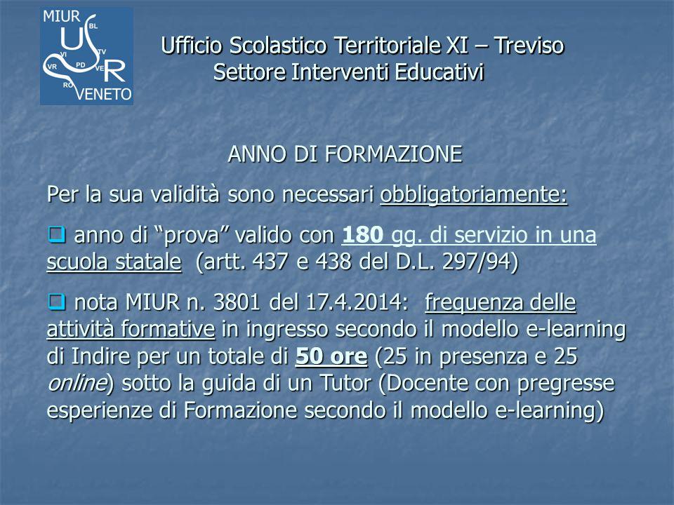 Ufficio Scolastico Territoriale XI – Treviso Settore Interventi Educativi Ufficio Scolastico Territoriale XI – Treviso Settore Interventi Educativi AN