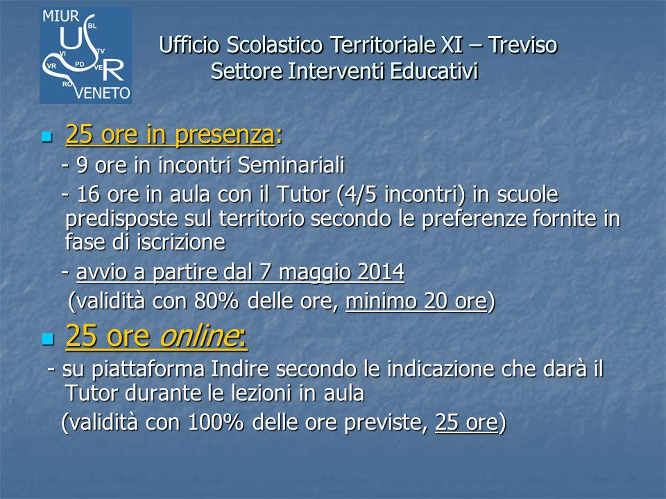 Ufficio Scolastico Territoriale XI – Treviso Settore Interventi Educativi Ufficio Scolastico Territoriale XI – Treviso Settore Interventi Educativi 25