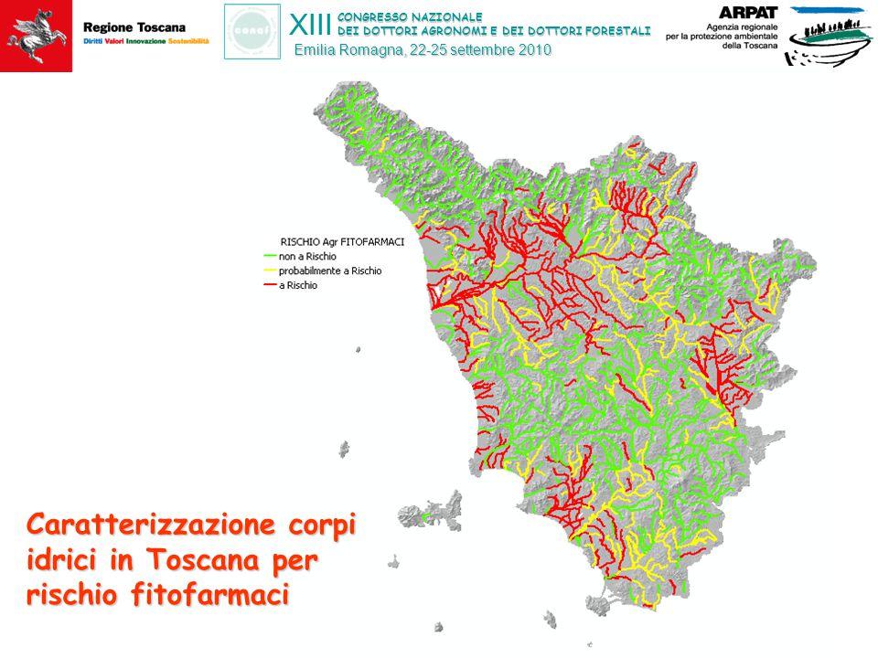 CONGRESSO NAZIONALE DEI DOTTORI AGRONOMI E DEI DOTTORI FORESTALI XIII Emilia Romagna, 22-25 settembre 2010 Caratterizzazione corpi idrici in Toscana p