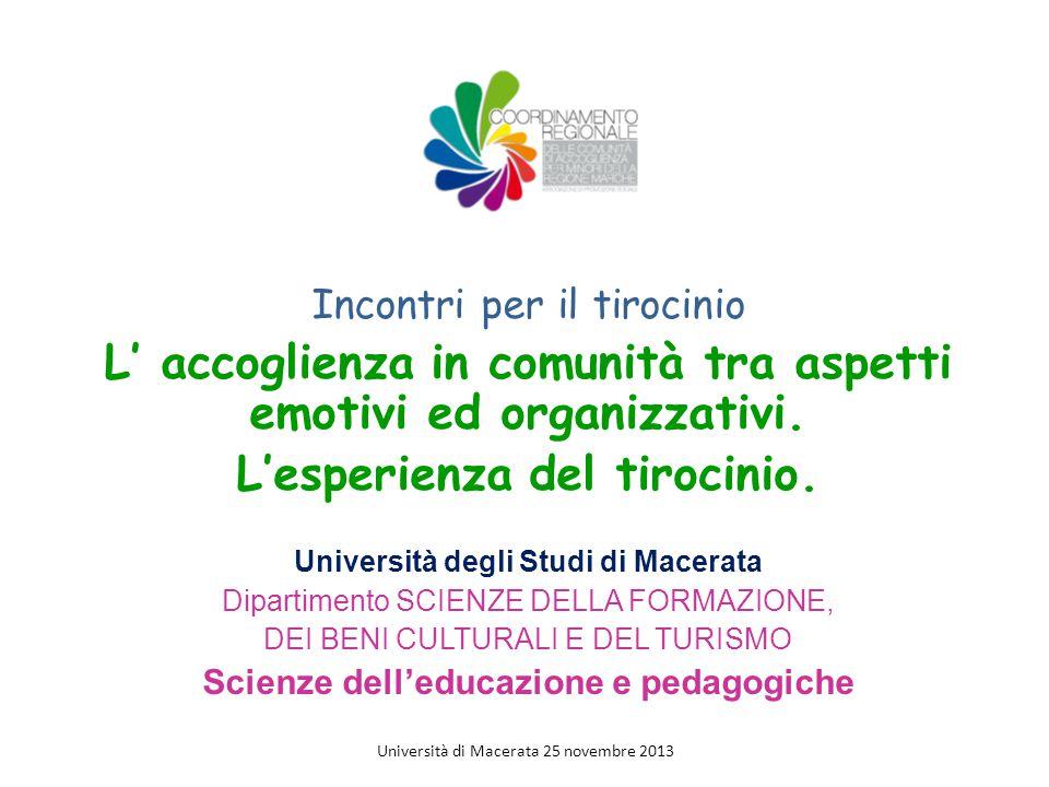 Centro Arcobaleno Macerata 2 maggio 2013 Università di Macerata 25 novembre 2013