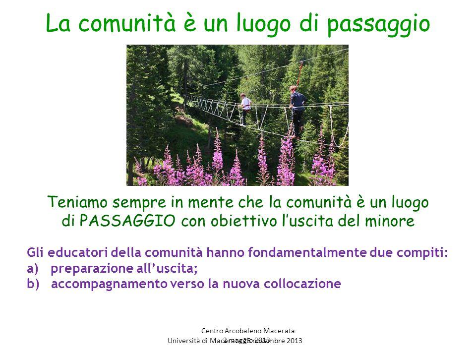 Uscire per dove …… Famiglia d'origine Famiglia affidataria Famiglia adottiva Un'altra comunità Autonomia Università di Macerata 25 novembre 2013