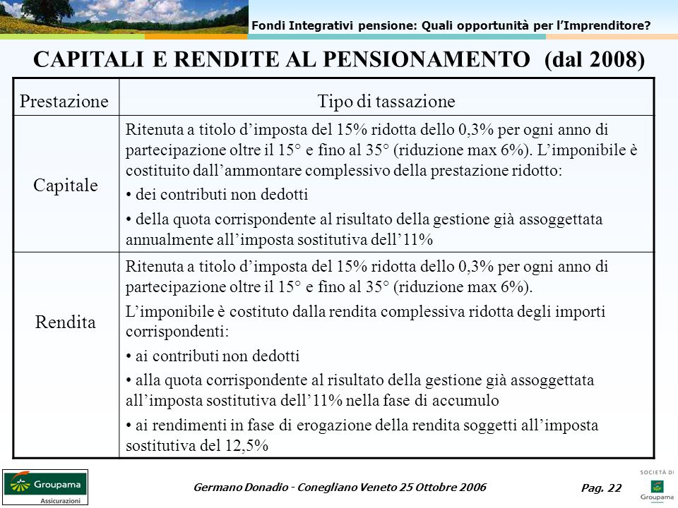 Germano Donadio - Conegliano Veneto 25 Ottobre 2006 Pag.