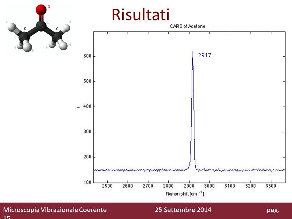 Risultati 2917 Microscopia Vibrazionale Coerente 25 Settembre 2014 pag. 15