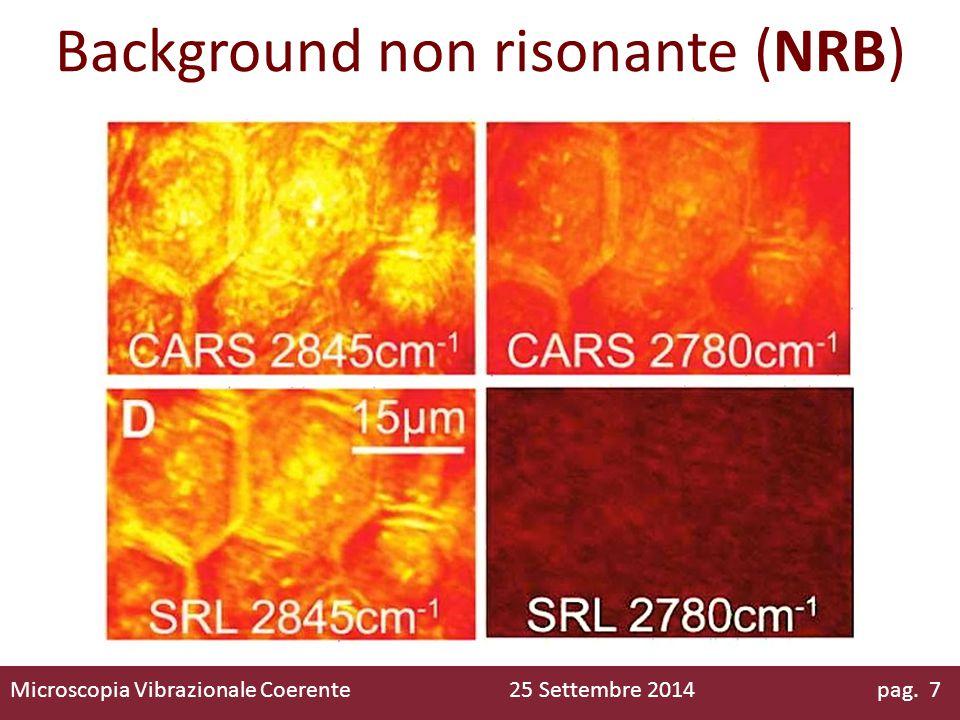 Background non risonante (NRB) Microscopia Vibrazionale Coerente 25 Settembre 2014 pag. 7