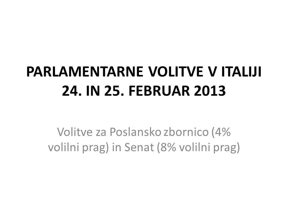 PARLAMENTARNE VOLITVE V ITALIJI 24. IN 25.